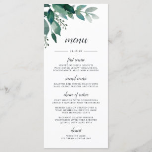 Abundant Foliage Menu Card