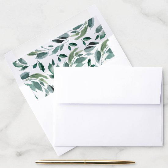 Abundant Foliage Pattern Envelope Liner
