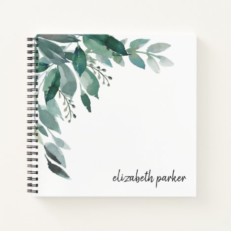 Abundant Foliage Personalized Notebook