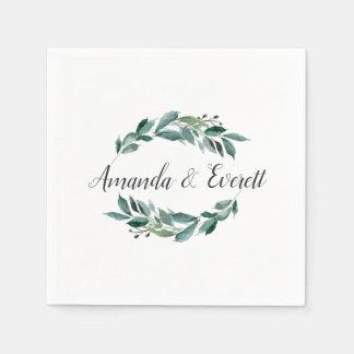 Abundant Foliage Personalized Wedding Paper Napkin