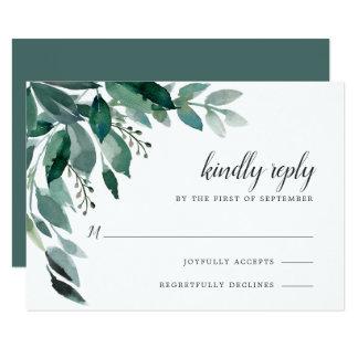 Abundant Foliage RSVP Card