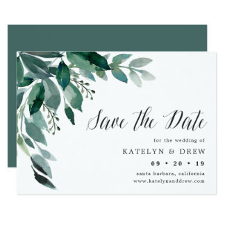 Abundant Foliage Save the Date Card