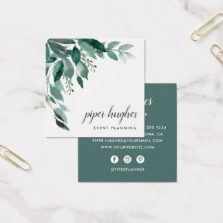 Abundant Foliage Square Business Card