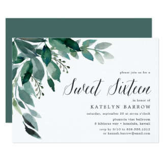 Abundant Foliage | Sweet Sixteen Invitation
