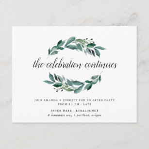 after party invitations zazzle