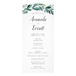 Abundant Foliage Wedding Ceremony Program