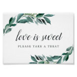 Abundant Foliage Wedding Dessert Bar Sign