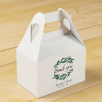 Abundant Foliage Wedding Favor Box