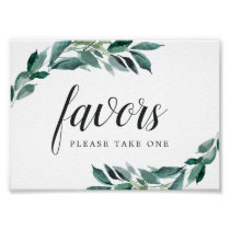 Abundant Foliage Wedding Favor Sign