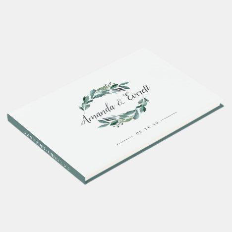 Abundant Foliage Wedding Guest Book