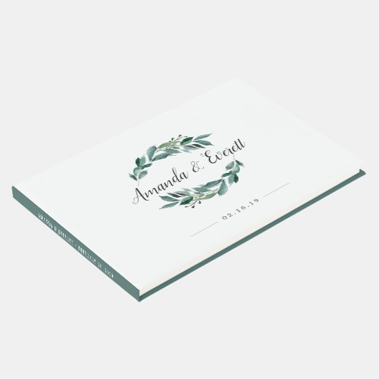 Abundant Foliage Wedding Guest Book