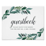 Abundant Foliage Wedding Guestbook Sign