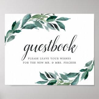 Abundant Foliage Wedding Guestbook Sign