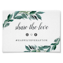 Abundant Foliage Wedding Hashtag Sign