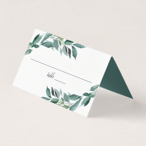 Abundant Foliage Wedding Place Card