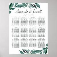 Abundant Foliage Wedding Seating Chart