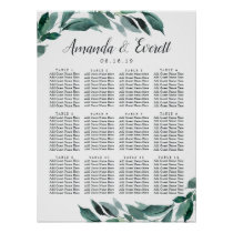 Abundant Foliage Wedding Seating Chart