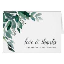 Abundant Foliage Wedding Thank You