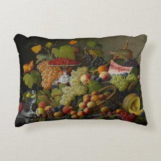 Abundant Fruit, 1858 (oil on canvas) Accent Pillow