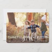 Abundant Gratitude | Thanksgiving Photo Card