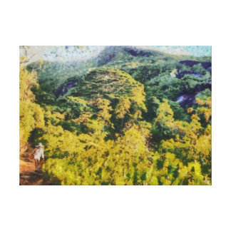 Abundant greenery canvas print