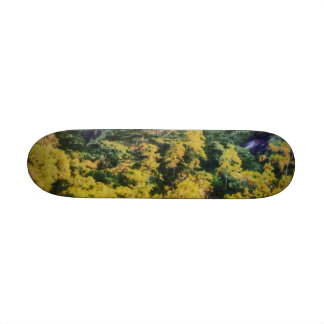 Abundant greenery custom skate board