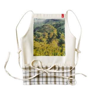 Abundant greenery zazzle HEART apron