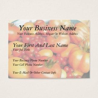 Abundant Harvest - Heirloom Tomatoes Business Card