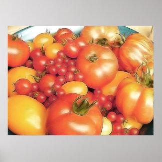Abundant Harvest - Heirloom Tomatoes Poster