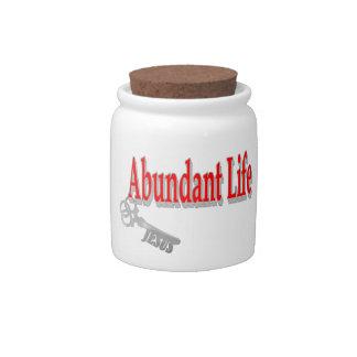 Abundant Life: The Key - v1 (John 10:10) Candy Dish
