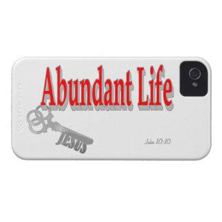 Abundant Life: The Key - v1 (John 10:10) iPhone 4 Cases