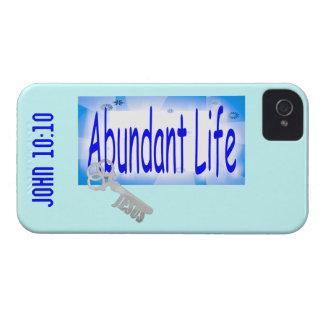 Abundant Life: The Key - V2 (John 10:10) iPhone 4 Case-Mate Cases