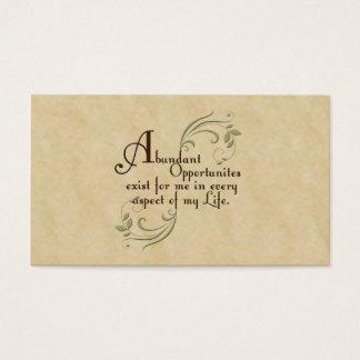 Abundant Opportunities Affirmation /Business Cards