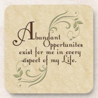 Abundant Opportunities Affirmation Coaster Set
