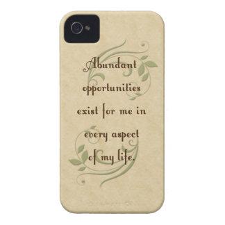 Abundant Opportunities Affirmation iPhone 4/4s Cas iPhone 4 Case-Mate Case