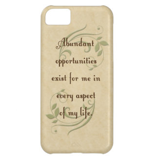 Abundant Opportunities Affirmation iPhone 5 Cas Cover For iPhone 5C