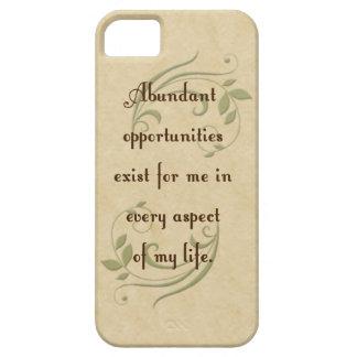 Abundant Opportunities Affirmation iPhone 5 Cas iPhone SE/5/5s Case