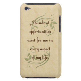 Abundant Opportunities Affirmation iPod Touch Case