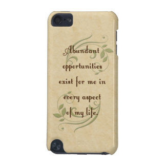 Abundant Opportunities Affirmation iPod Touch Spec iPod Touch (5th Generation) Cover