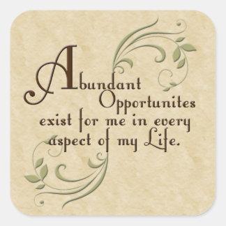 Abundant Opportunities Affirmation Stickers