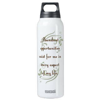 Abundant Opportunities Affirmation Thermos Water Bottle