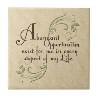 Abundant Opportunities Affirmation Tiles & Trivets