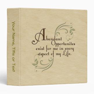 Abundant Opportunities Binder