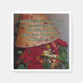 Abundante con la fe servilletas de papel