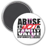 Abuse Is Not A Family Value Fridge Magnets