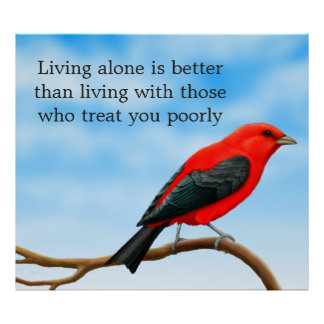 Abuse Survivors Inspirational Red Bird Poster