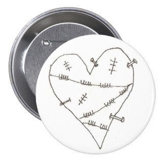 Abused Heart Pins
