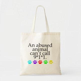 Abuso crueldad animales bolsas de mano