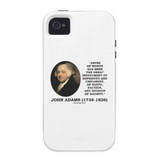 Abuso de John Adams de la trapacería de la sofisma iPhone 4/4S Carcasa
