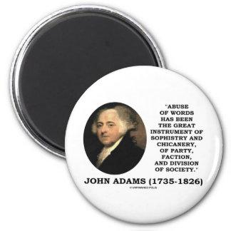 Abuso de John Adams de la trapacería de la sofisma Imán Redondo 5 Cm